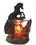 Black Jumping Horse Fragrance Lamp / Tart Warmer