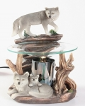 Wolf on Rock Fragrance Lamp / Tart Warmer