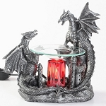 Black Double Dragon Fragrance Lamp / Tart Warmer