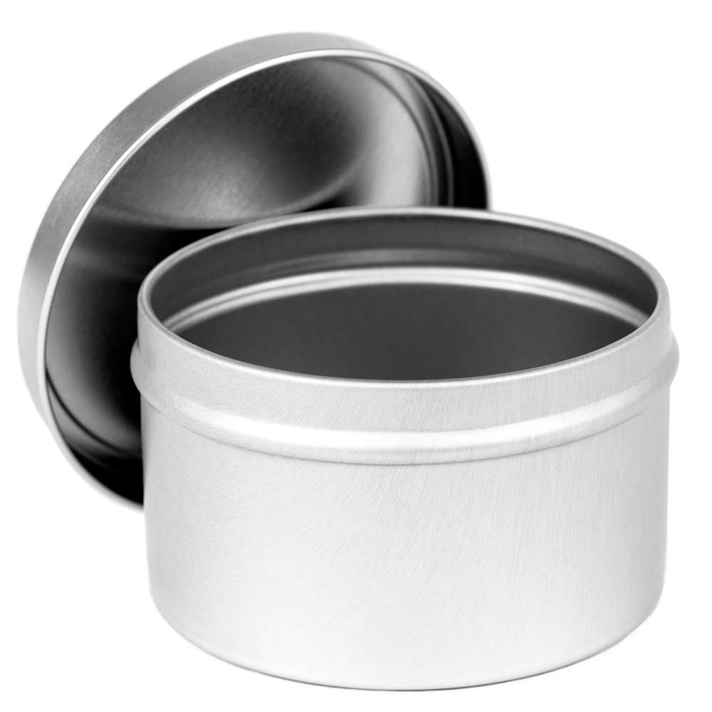 8 oz. Deep Round Tin with Lid - 60 pcs. (5 dz.)