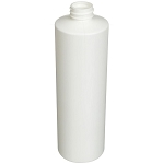 16 oz. White HDPE Cylinder Bottle