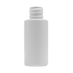 1 oz. White HDPE Cylinder Bottle