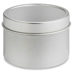 4 oz. Deep Round Tin with Lid - 48 pcs.  (4 dozen)