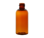 Amber PET Boston Round Bottle - 2 oz.