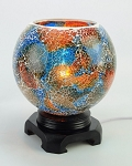 Blue & Orange Mosaic Globe Fragrance Lamp