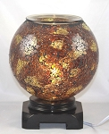 Brown & Gold Mosaic Globe Fragrance Lamp