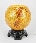 Gold Mosaic Globe Fragrance Lamp