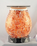 Orange White Mosaic Crackle Glass Touch Fragrance Lamp