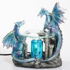 Blue Double Dragon Fragrance Lamp / Tart Warmer