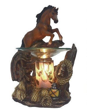 Brown Jumping Horse Fragrance Lamp / Tart Warmer
